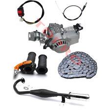 49cc Motor Engine Kit 2 Stroke Pull Start Mini Pocket Pit Bike Exhaust Throttle