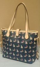 MLB Los Angeles Dodgers Patterned Tote Bag *New*