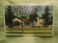 1930-1945 Vintage Postcard Home of Robert Taylor Beverly Hills Ca Tichnor 62679