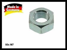 50x Mutter M7 Sechskant Sechskantmutter verzinkt DIN 934 ISO 4032 Steigung 1,0