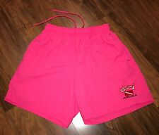 Vtg UZZI Neon Pink SCUBA DIVING Aruba Mens SMALL Nylon athletic trunks shorts S