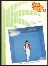 CIELI AZZURRI   Pupo -- SPARTITO - Sanremo 1983 Canto - Chitarra o Fisa, Testo