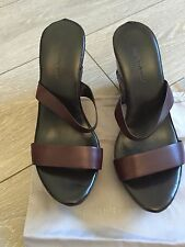 ROBERTO DEL CARLO  WOMEN  SHOES LEATHER PLATFORM SIZE 40 MADE IN ITALY