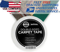 "Heavy Duty Rug Tape Strong Double Sided Carpet Tape 2""x25Yrd Gripper Tape"