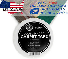 """Heavy Duty Rug Tape Strong Double Sided Carpet Tape 2""""x25Yrd Gripper Tape"""