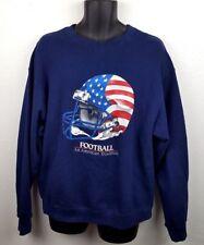 Football Flag Helmet Sweatshirt Large An American Tradition F3