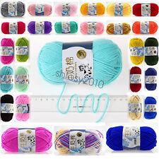 83 Color hand woven knitting Crochet Milk fiber Baby Cashmere Wool yarn 50g ball