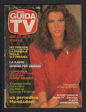 GUIDA TV MONDADORI 12/1984 STEFANIA SANDRELLI BRIGITTE BARDOT BARBARA DE ROSSI