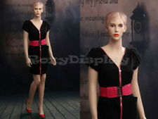 Female Fiberglass Mannequin Beautiful Face with Molded Hair Style #Mz-Ad02