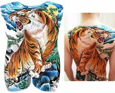 BIG GRANDE completo indietro sul petto TIGRE Giapponese Tatuaggio Adesivo TEMPORANEO BODY ART