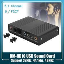 DM-HD10 USB 5.1Channel Computer External Sound Card Optical S/PDIF Audio Adapter