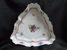 """Herend Chinese Bouquet Multicolor AF: Triangular Serving Bowl 9 1/2"""" 1191"""