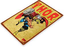 Tin Sign Thor Comic Metal Décor Wall Art Store Shop Cave A651