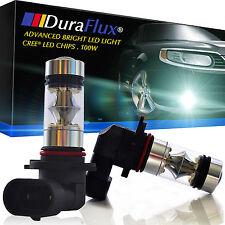 DuraFlux 100W H10 9145 CREE LED Fog Driving Light Bulb 6000K White w Quartz Tube
