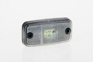 12/24V WHITE FRONT LED clearance marker light lamp with cable van truck trail...