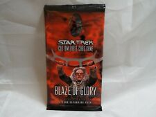 STAR TREK CCG BLAZE OF GLORY SEALED BOOSTER PACK OF 9 CARDS
