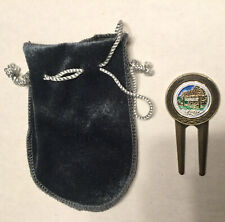 Vintage Souvenir Golf Divot Tool 1� Camp David Pendant In The Middle With Bag