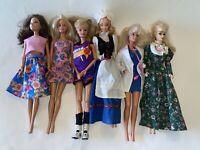 BARBIE TERESA Lot of 6 Fashion Pretty DOLLS Basketball Colonial Vtg Reproduction