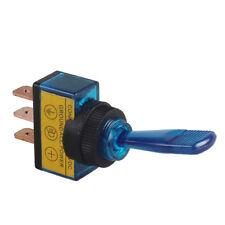 Car Auto 12V 20A 20Amp 3P Blue LED Light OFF/ON SPST Toggle Rocker Switch Sales