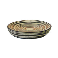 Braune Keramik Seifenschale Seifenhalter Seifenablage in Holzoptik - Serie MATEO