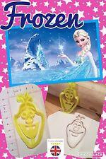 Olaf Frozen ukseller Bizcocho Masita Cortador Fondant Pastel Decoración Molde