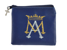 Ave Maria Embroidered Rosary Case (YC317) Auspice Maria
