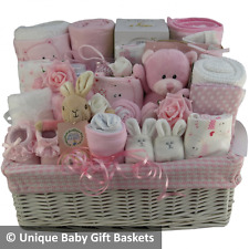 Beautiful deluxe large baby gift basket baby hamper girl baby shower nappy cake