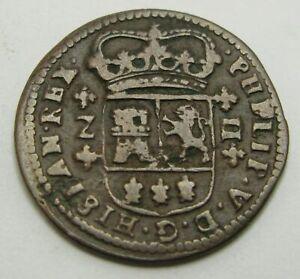 SPAIN 2 Maravedis 1719 - Copper - Philip V. - 1367