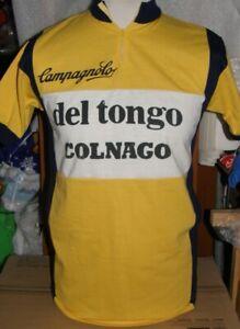 MAGLIA SHIRT JERSEY CICLISMO CYCLING VINTAGE DEL TONGO COLNAGO CAMPAGNOLO EROICA