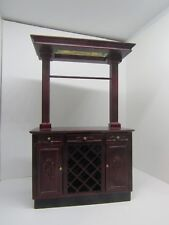 Dollhouse Miniatures, Bespaq Wine Cabinet with Stained Glass Skylight, 1/12