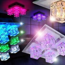 LED Lámpara de techo moderna mando a distancia elección cambio color luces salón