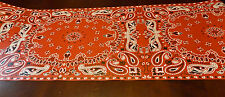 """Cowboy Red Bandana Table Runner for Country Western Parties Weddings 20"""" x 25'"""