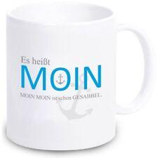 """Tasse """"Es heißt MOIN. MOIN MOIN ist schon GESABBEL."""" Anker Meer Ostsee Nordsee"""