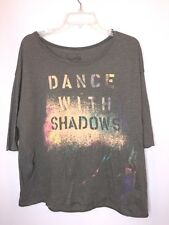WE THE FREE Anthropologie People  SIZE S Brown DANCE IN THE SHADOWS Top Shirt