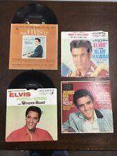 2-Elvis Presley 45's,I believe in the man in the sky,Wooden Heart, + 2 Sleeves