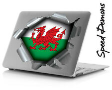 XL SPEED DEMON PRIDE BURST STICKER SELF ADHESIVE CAR LAPTOP RIP TORN WELSH WALES