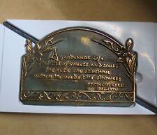 Brass Garden Plaque and Post Patina Famous Quote Decoration Reginald Arkel Nib