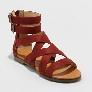 Universal Thread - Women's Rosalee Microsuede Gladiator Sandals - Red or Black!