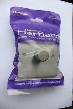 Hamilton Hartland Super Slim Satin Steel 1G LED 100w 2W Push On Single Dimmer