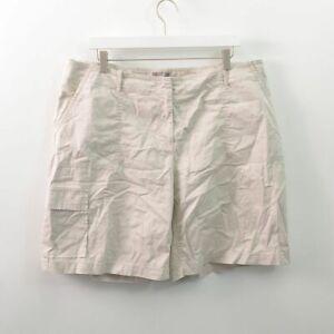 J Jill Womens 16 Cotton Cargo Shorts Stretch