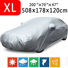 XL Full Car Cover Waterproof Breathable Dustproof Rain Snow Protector Outdoor