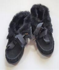 New Tory Burch Aberdeen Rabbit Fur Women's Slipper Size 10M $160