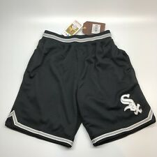 Chicago White Sox Mitchell And Ness Heavy Mesh Shorts Pockets Black Size Small S