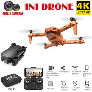 Mini Drone Foldable Quadcopter WIFI FPV 1080P 4K Wide-Angle HD Dual Camera Gift