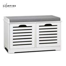 Portable Shoe Rack Cabinet Storage Bench Organiser Seater Stool Wooden Drawers