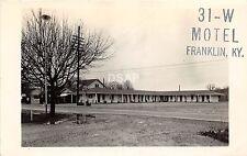 A46/ Franklin Kentucky Ky Real Photo RPPC Postcard c1950 31-W Motel Roadside