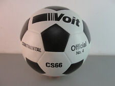 VOIT CONTINENTAL SOCCERBALL OFFICIAL No 4 CS66 BLACK WHITE NEW OLD STOCK VINTAGE