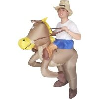 Adult Inflatable Horse Costume Cowboy Fancy Dress Halloween Cosplay Party Outfit