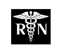 RN / Registered Nurse Decal Window/Car/Truck ***AVAILABLE 20 COLORS***