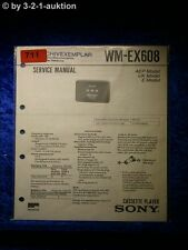 Sony Service Manual WM EX608 Cassette Player (#0711)